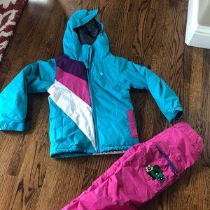 Girls 10-12 ski and snow jacket and pants